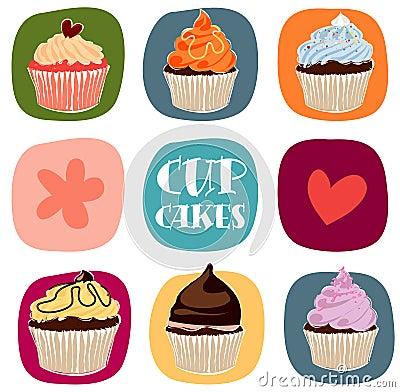 Free Cupcakes Royalty Free Stock Photos - 9767048