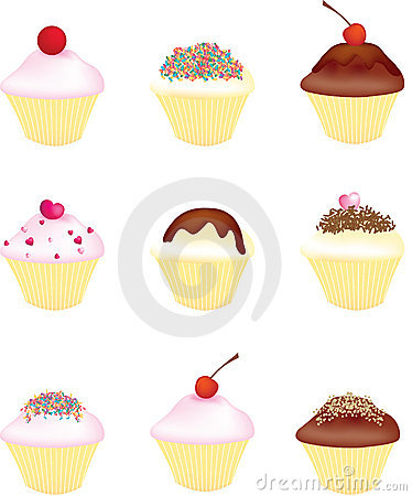 Free Cupcakes And Fairy Cakes Stock Photography - 9644932