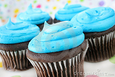 Cupcakes and Blue Icing