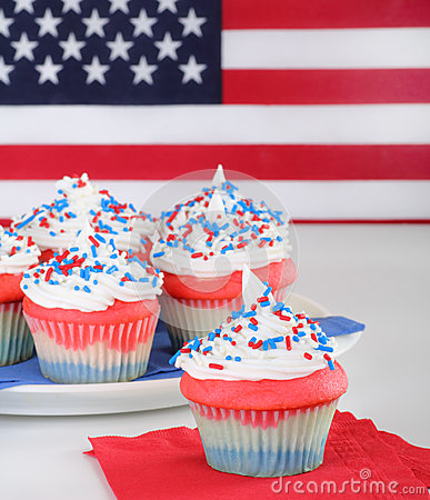 Cupcakes and Flag