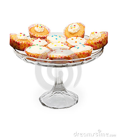 Cupcakes with frosting on a plate