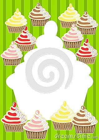 Cupcakes Invitation Card