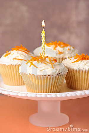 Cupcakes With Single Candle