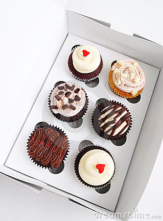 Cupcakes in special carrier box