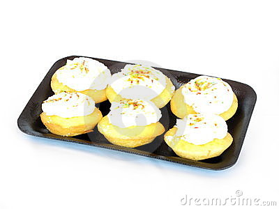Cupcakes on tray