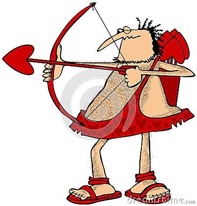 Free Cupid Aiming An Arrow Stock Image - 48066451