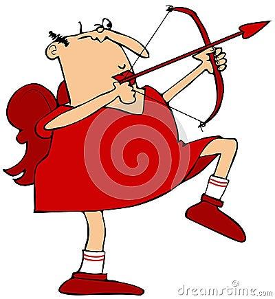 Free Cupid Aiming His Arrow Royalty Free Stock Photo - 49662085