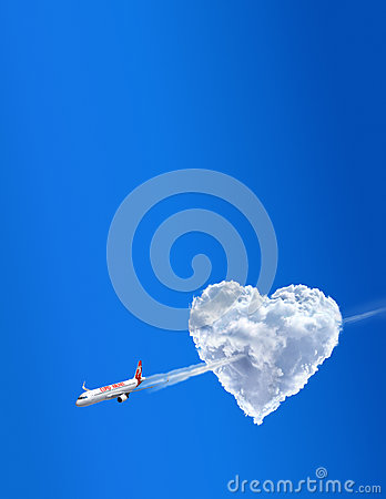 Cupid airline. Love is in the air