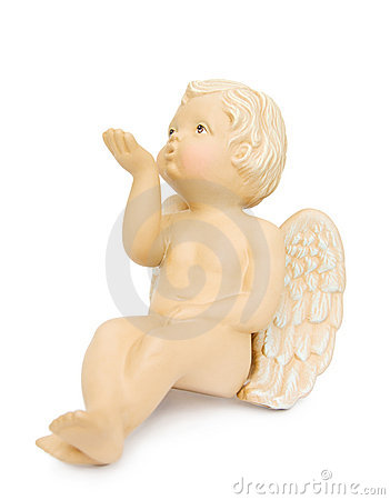 Cupid angel blowing kisses