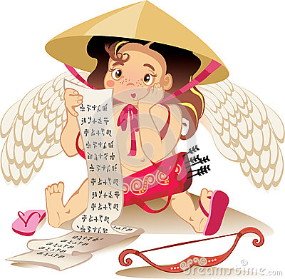 Cupid chines, Valentine day character