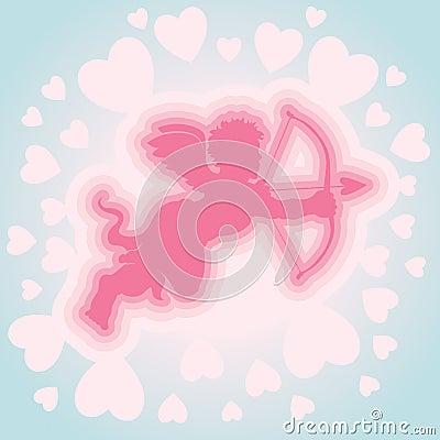 Cupid con el arqueamiento y la flecha