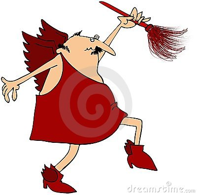 Cupid With A Feather Duster