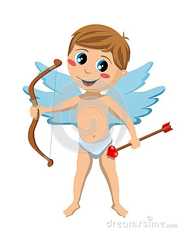 Cupid Kid With Bow and Arrow