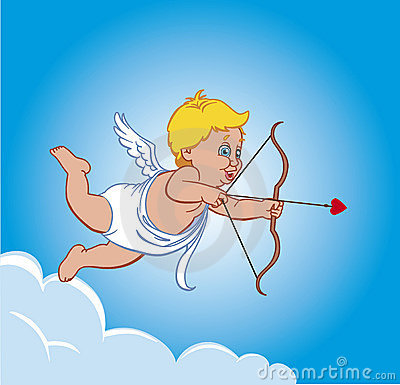 Free Cupid On A Cloud Royalty Free Stock Image - 4133856