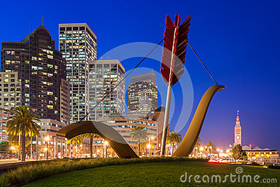 Cupid s Span in San Francisco Editorial Stock Photo