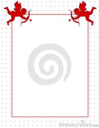 Cupid valentine s day background/ border
