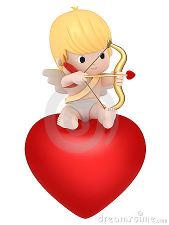 Free Cupid With Bow And Arrow Royalty Free Stock Images - 23124699