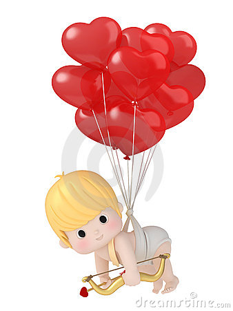 Free Cupid With Bow And Arrow Royalty Free Stock Photography - 23124887