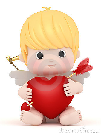 Free Cupid With Bow And Arrow Royalty Free Stock Images - 23125039