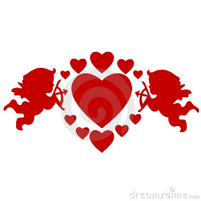 Free Cupids And Hearts Royalty Free Stock Photo - 9297715