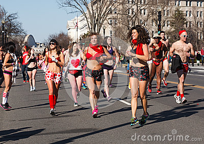 Cupids Undie Runners Washington DC Editorial Image