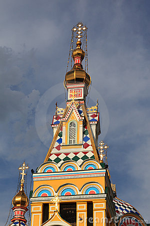 Cupola of Ascension Cathedral in Almaty
