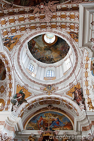 Cupola in Baroque St. James Cathedral, Innsbruck