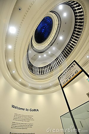 The cupola of the Gallery of Modern Art in Glasgow Editorial Photo