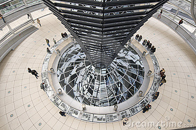In the cupola, Reichstag, Berlin Editorial Photography