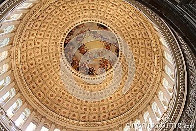 Cupola of United States Capitol Building, Washington, USA