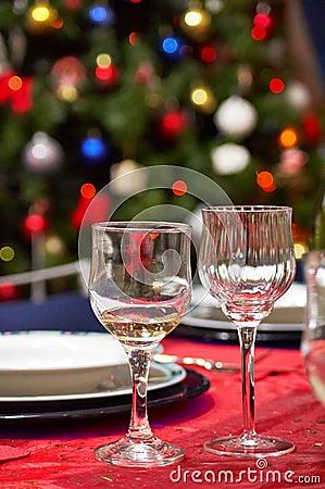 Cups - Christmas Table setting