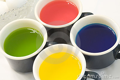 Cups of Dye and Eggs