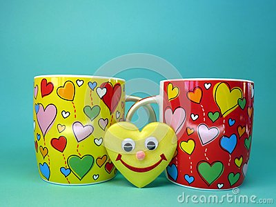 Cups and heart