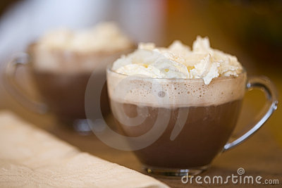 Cups of hot cocoa
