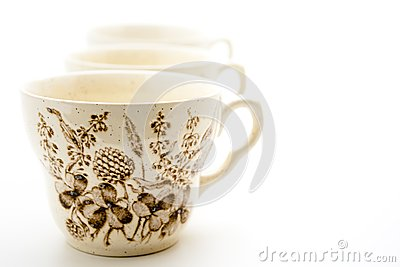 Cups with pattern