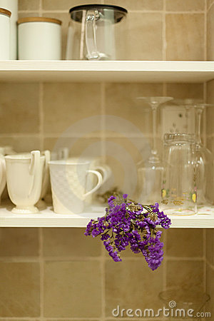 Cups in shelf