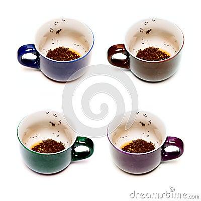 Cups with weak tea