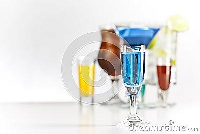 Curacao shot drink