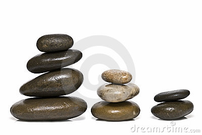 Curative stones in balance.