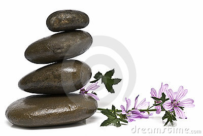 Curative stones and mauve.