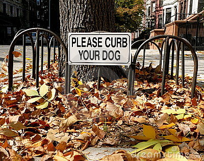 Curb Your Dog Sign
