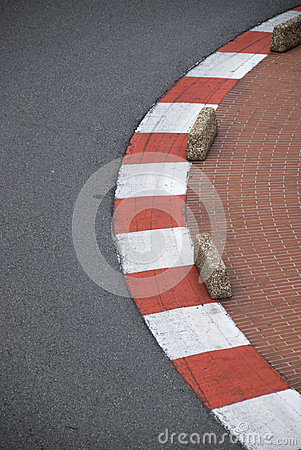 Curbs on formula one track