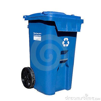Free Curbside Recycle Bin Royalty Free Stock Image - 8833786