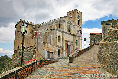 The curch of San Nicolo, location of The Godfather Editorial Image
