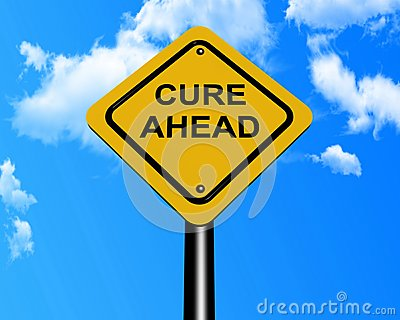 Cure ahead sign post