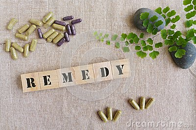 Remedy medicine concept