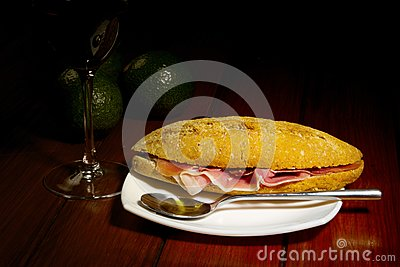 Cured Ham on Brown Bread