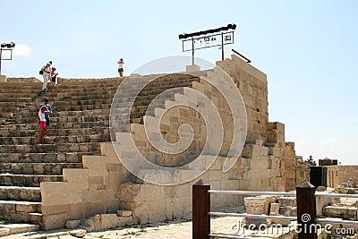 Curion amphitheatre. Cyprus Editorial Stock Image