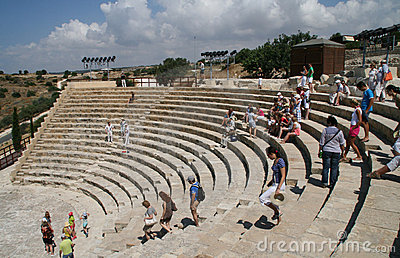 Curion amphitheatre. Cyprus Editorial Photography