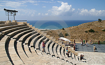 Curion amphitheatre. Cyprus Editorial Stock Image